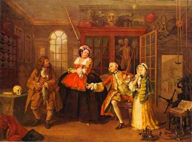 "William Hogarth, ""The Visit to the Quack Doctor"" (1743)"